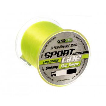 CARP PRO Леска Sport Line Fluo Yellow 1000м 0,310мм