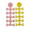 KORDA Стопор для бойлов Floss Caps Pink/Yellow