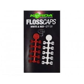 KORDA Стопор для бойлов Floss Caps White/Red