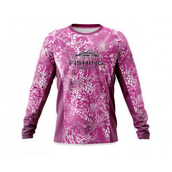 VEDUTA Джерси дышащая UPF50+ Reptile Skin Fluo Pink XS женская