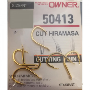 OWNER Крючок Cut Hiramasa gold №6/0 3шт