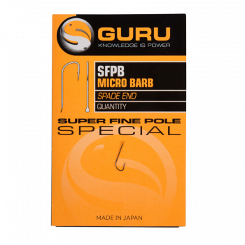 GURU Крючок Super Fine Pole №22 с бородкой
