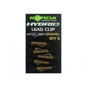 KORDA Клипса безопасная с кольцом Hybrid Lead Clips Gravel