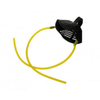 FLAGMAN Запасная резина для рогатки с чашей и 4-мя стяжками Medium Yellow Elastic With Pounch