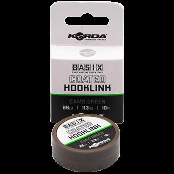 KORDA Поводковый материал Basix Coated Hooklink 25lb 10м Camo green