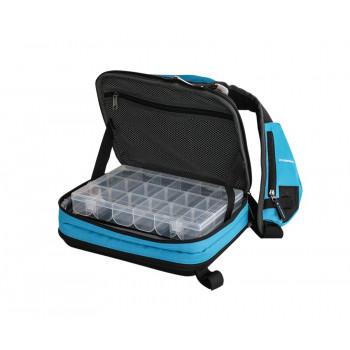 FLAGMAN Сумка-рюкзак спиннинговая с 2 коробками 34x24x10см