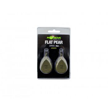 KORDA Грузило Flat Pear Swivel Blister Gravel 4,0oz 112г