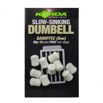 KORDA Имитационная приманка Dumbell Slow Sinking Banoffee 8мм