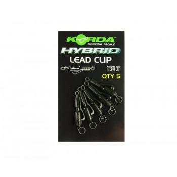 KORDA Клипса безопасная с кольцом Hybrid Lead Clips Silt