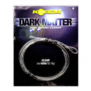 KORDA Монтаж готовый Dark Matter Leader №8 Ring Swivel Clear 40lb 1м