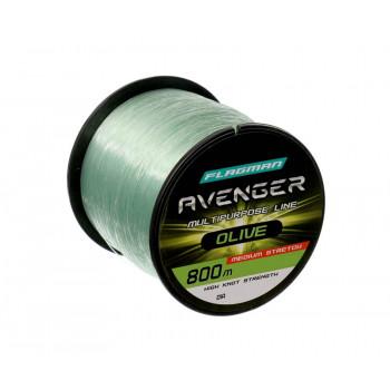 FLAGMAN Леска Avenger Olive Line 800м 0,35мм 11,1кг/24,4lb