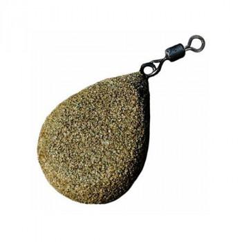 KORDA Грузило Textured Flat Pear Swivel 2,5oz 70г
