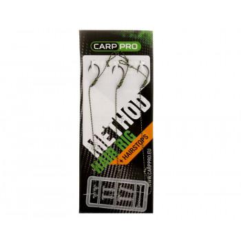 CARP PRO Поводок готовый с крючком Method Hair Rig Hooklink №6 25lb